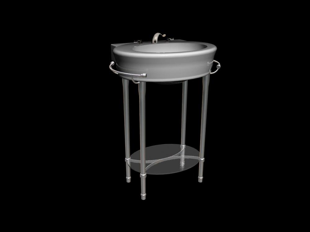 3d model american standard console sink