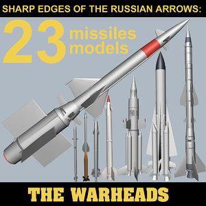 missiles russian sam 3d model