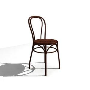 bent wood chair 3d model