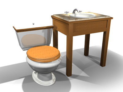 3d model american enfield toilet sink