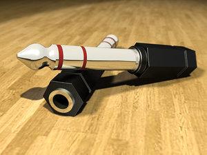 3d model plug jack