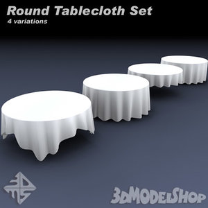 tableclothes set 3d model