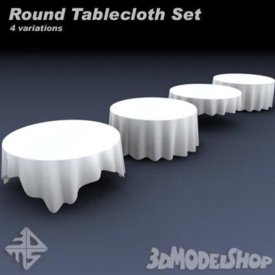 tableclothes set 3d model