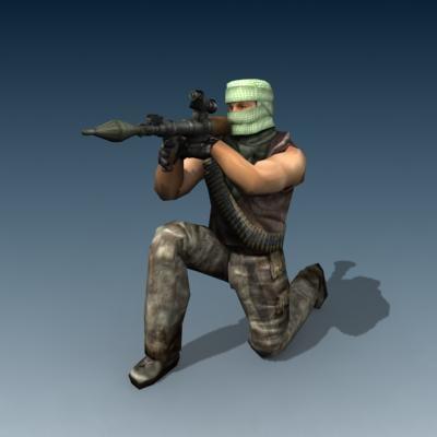 3d model terrorist iraq