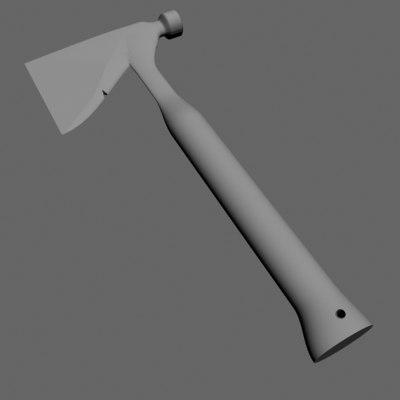 3ds hatchet axe
