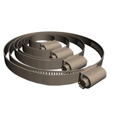 hose clamps 3d 3ds