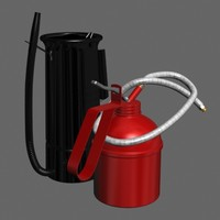oil cans 3d max