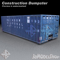maya construction dumpster