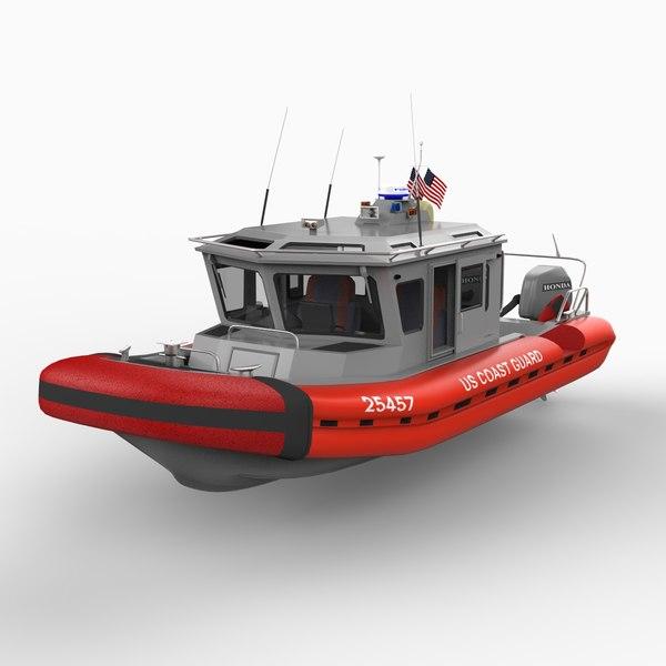 coast guard security patrol boat 3d 3ds