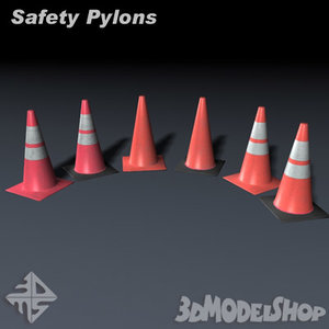 safety pylons 3d model