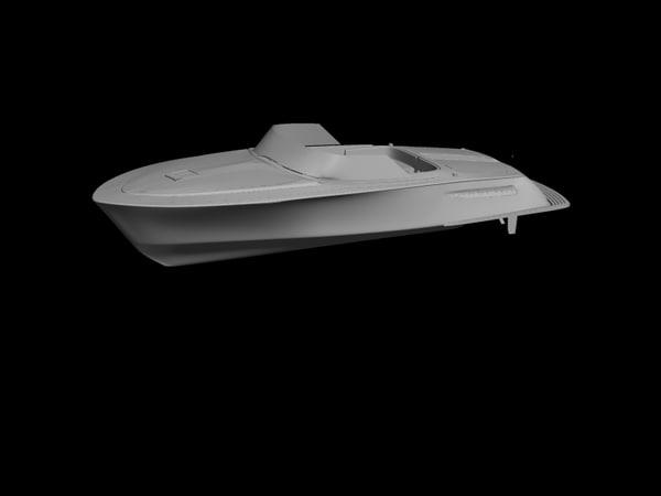 3d model speed boat