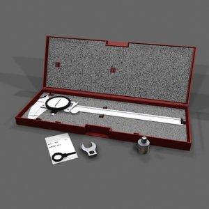 caliper 3d model
