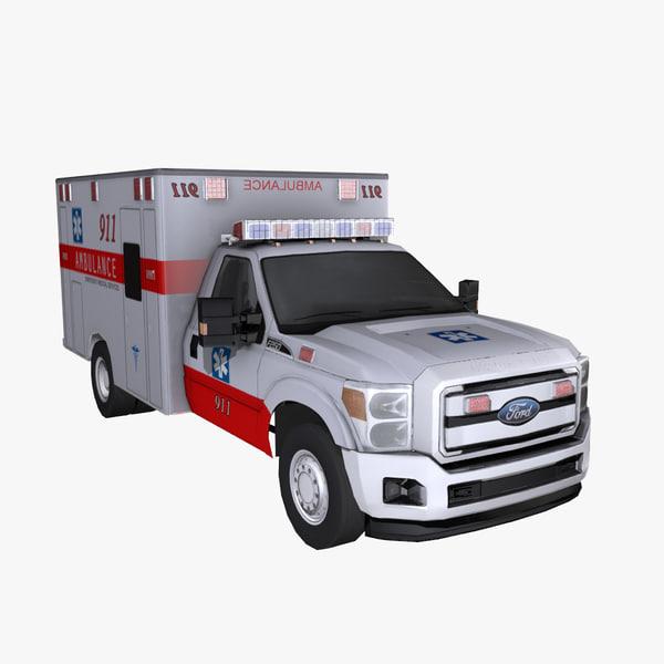 3dsmax medical ambulance