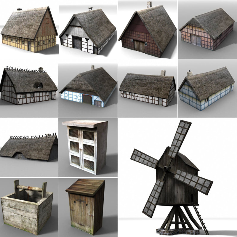 medieval building 3ds