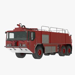 3d fire-rescue truck model