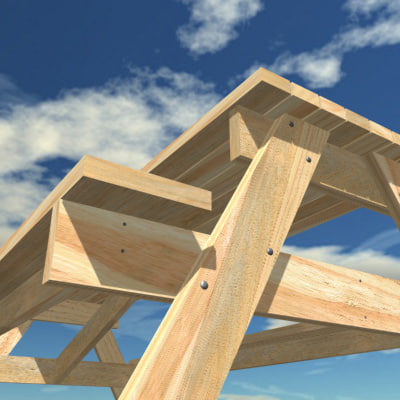 3ds max picnic table