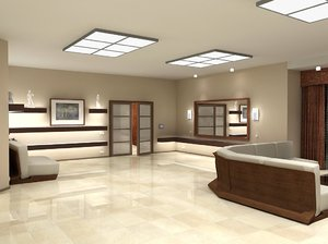 3d drawing-room luminaires model