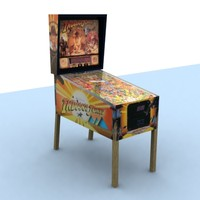 3d model of pinball indiana jones