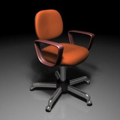 revolving chair 3d model