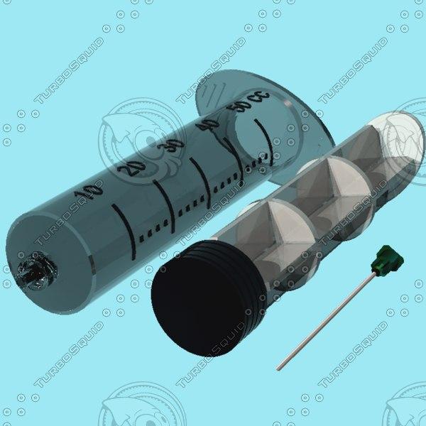 hypodermic syringe needle 3ds