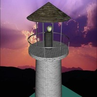 3d model lighthouse light