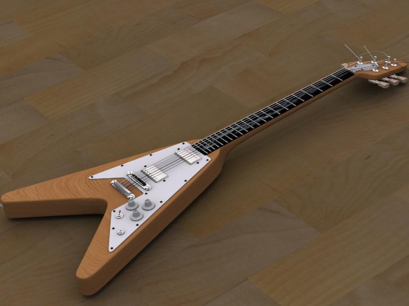 max gibson flying v guitar