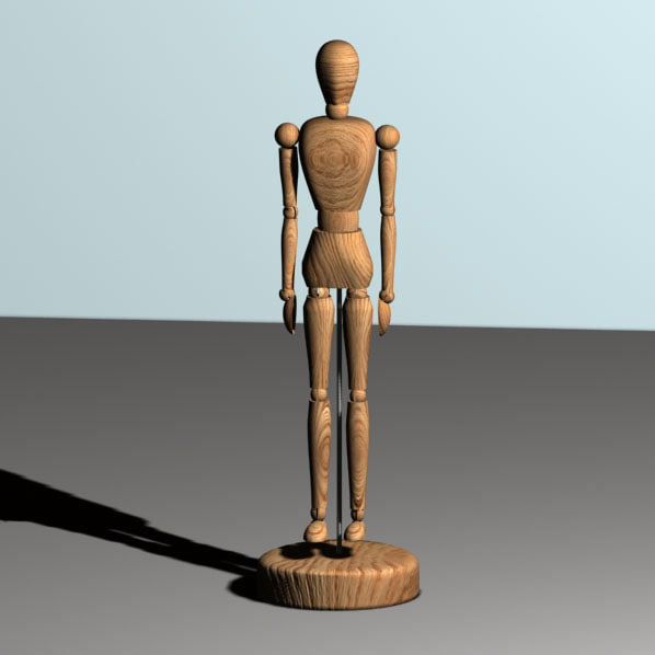 3d wood dummy