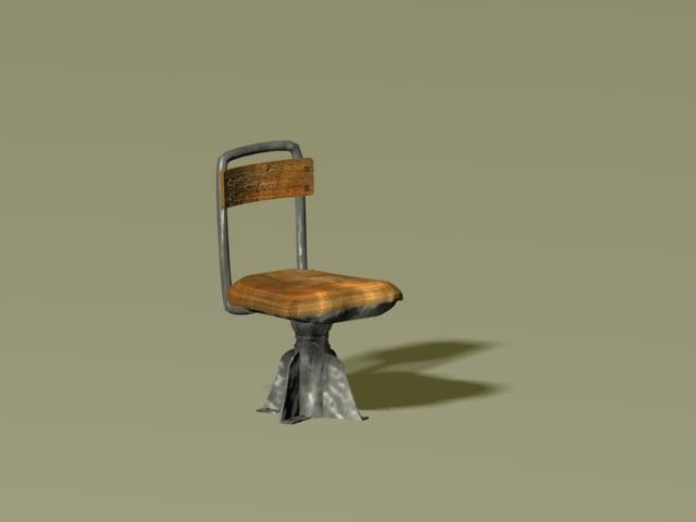maya metal wood chair