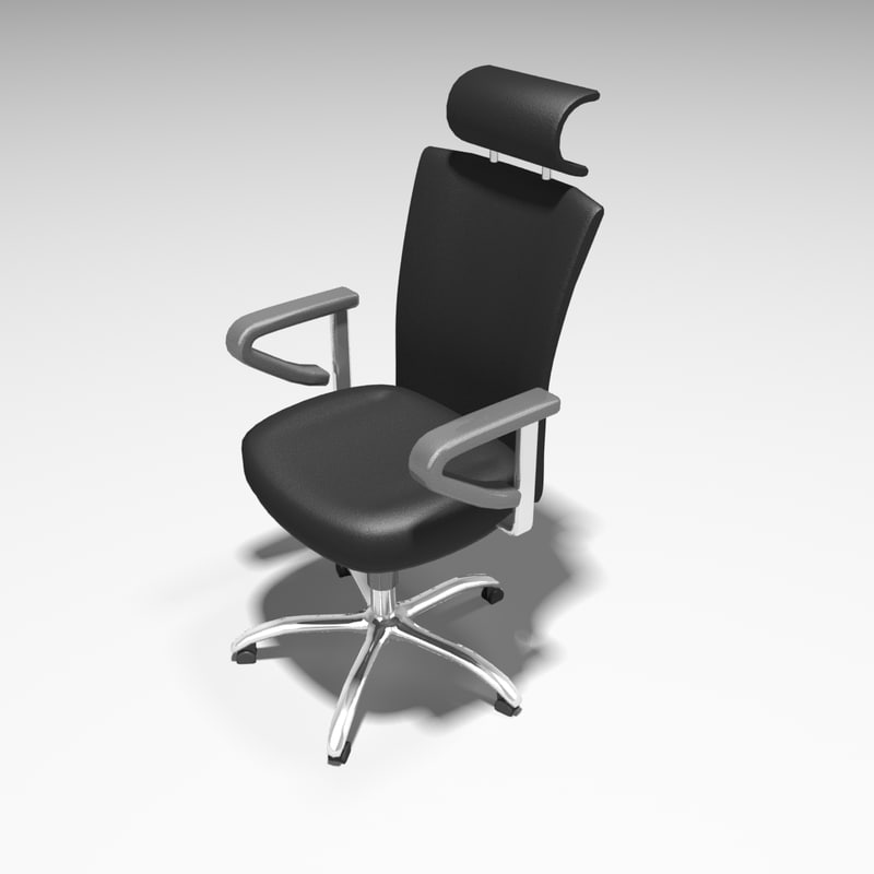 3d model executive office leather chair