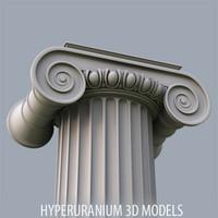 3d ionic column model
