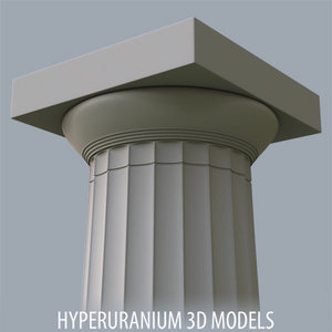 3d doric column model