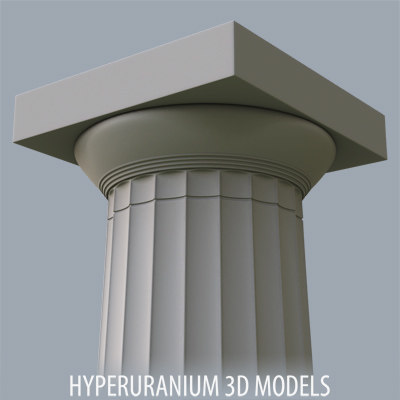 3d doric column model