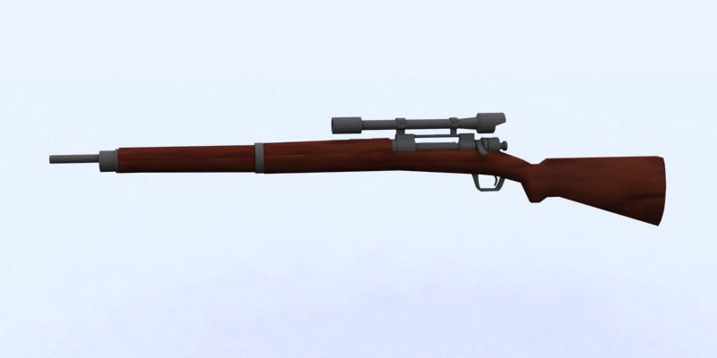 m1903 sniper 3d model
