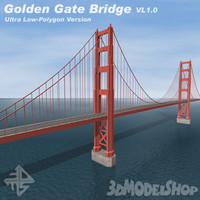 golden gate bridge vl1 3d model