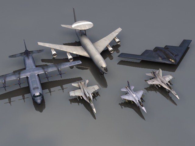3d model 6 jets fa18e