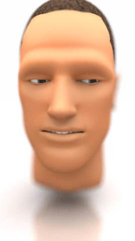 male human head 3d model