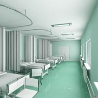 ward hospital 3d max