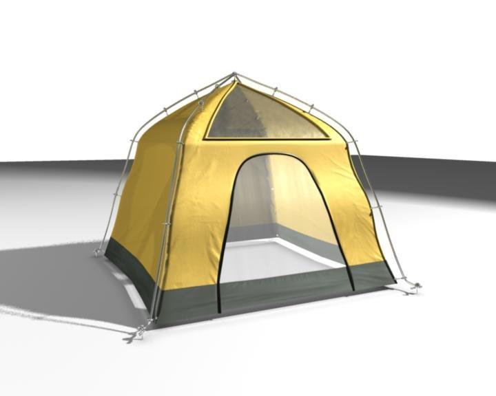 3d camping tent