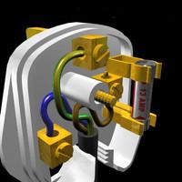 3pin plug 3d model