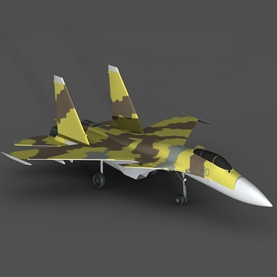 3d model super flanker aircraft