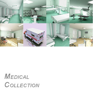 surgery room isolation ward 3d model