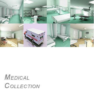 surgery room isolation ward 3d model