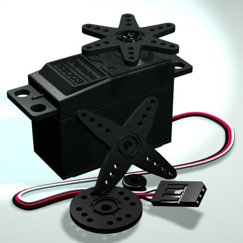 futaba s3003 servo robot 3d model