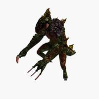fantasy reptile 3d model
