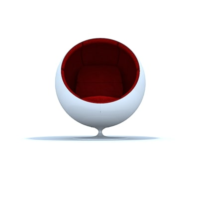 3d aarnio ball chair model