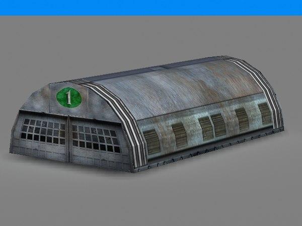 maya airplane hangar