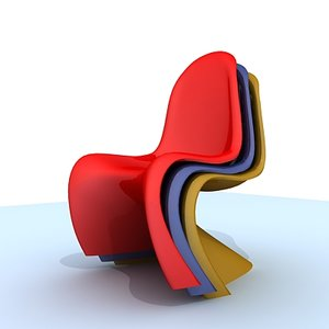 panton chair 3d model