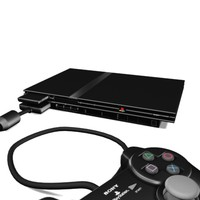 3d model ps2 playstation