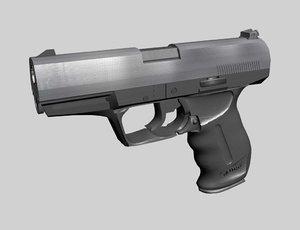 p99 handgun 3d max