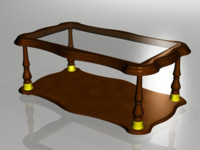 3d table coffee model